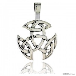 Sterling Silver Celtic Knot Pendant, 1/4 in