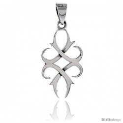 Sterling Silver Celtic Knot Pendant, 1/4 in -Style Pa2022