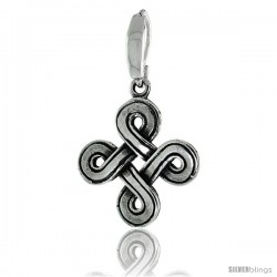 Sterling Silver Celtic Knot Pendant, 1 1/8 in -Style Pa2023