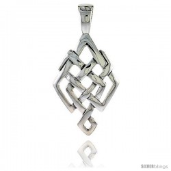 Sterling Silver Celtic Knot Pendant, 1 5/8 in