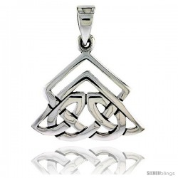 Sterling Silver Celtic Knot Pendant, 1 in -Style Pa2025