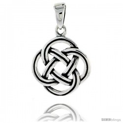 Sterling Silver Celtic Knot Pendant, 3/4 in -Style Pa2026