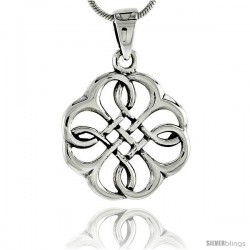 Sterling Silver Celtic Knot Pendant, 3/4 in -Style Pa2027