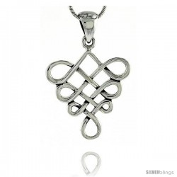 Sterling Silver Celtic Knot Pendant, 1 1/16 in -Style Pa2028