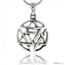 Sterling Silver Celtic Knot Pendant, 3/4 in -Style Pa2031