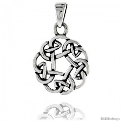 Sterling Silver Celtic Knot Pendant, 3/4 in -Style Pa2032