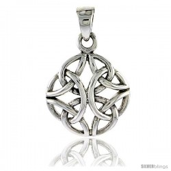 Sterling Silver Celtic Knot Pendant, 5/8 in