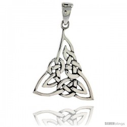 Sterling Silver Celtic Knot Trinity Pendant, 1 in