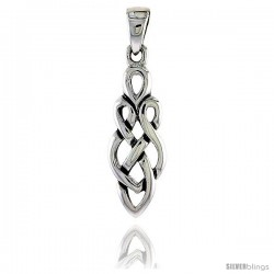 Sterling Silver Celtic Knot Pendant, 1 in -Style Pa2037