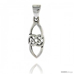Sterling Silver Celtic Knot Pendant, 3/4 in -Style Pa2039