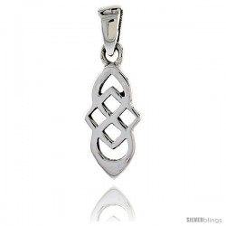 Sterling Silver Celtic Knot Pendant, 3/4 in -Style Pa2040