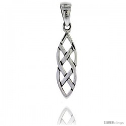 Sterling Silver Celtic Knot Pendant, 7/8 in -Style Pa2041