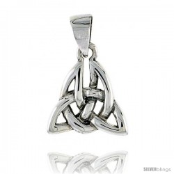 Sterling Silver Celtic Knot Pendant, 1/2 in