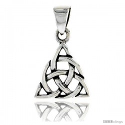 Sterling Silver Celtic Knot Trinity Pendant, 1/2 in