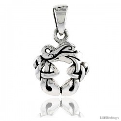 Sterling Silver Celtic Knot Pendant, 5/8 in -Style Pa2045