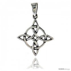 Sterling Silver Celtic Knot Pendant, 3/4 in -Style Pa2047