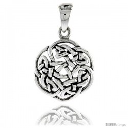 Sterling Silver Celtic Knot Pendant, 3/4 in -Style Pa2048