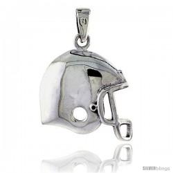 Sterling Silver Football Helmet Pendant, 7/8 in tall