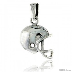 Sterling Silver Football Helmet Pendant, 5/8 in tall