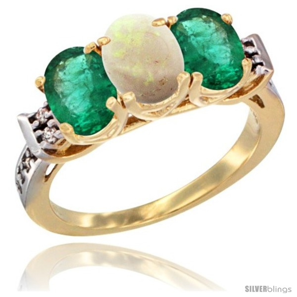https://www.silverblings.com/72078-thickbox_default/10k-yellow-gold-natural-opal-emerald-sides-ring-3-stone-oval-7x5-mm-diamond-accent.jpg