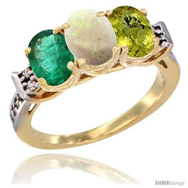 https://www.silverblings.com/72084-thickbox_default/10k-yellow-gold-natural-emerald-opal-lemon-quartz-ring-3-stone-oval-7x5-mm-diamond-accent.jpg