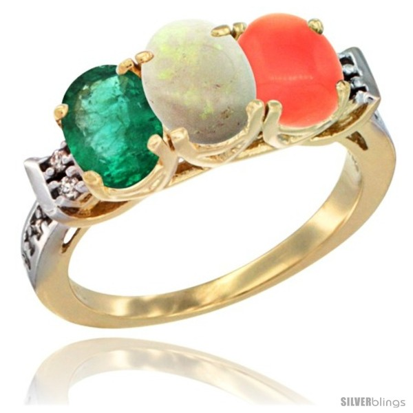 https://www.silverblings.com/72086-thickbox_default/10k-yellow-gold-natural-emerald-opal-coral-ring-3-stone-oval-7x5-mm-diamond-accent.jpg