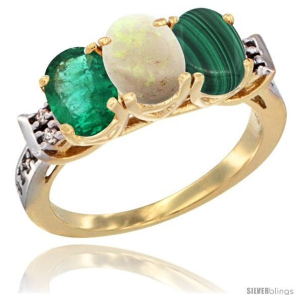 https://www.silverblings.com/72090-thickbox_default/10k-yellow-gold-natural-emerald-opal-malachite-ring-3-stone-oval-7x5-mm-diamond-accent.jpg