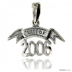 Sterling Silver Class of 2006 Talking Pendant, 1 1/16 in wide