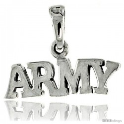 Sterling Silver United States ARMY Talking Pendant, 3/4 in wide