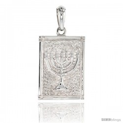 Sterling Silver MENORAH Pendant, 1 1/16 in tall