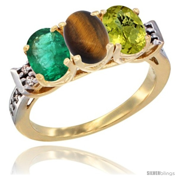 https://www.silverblings.com/72397-thickbox_default/10k-yellow-gold-natural-emerald-tiger-eye-lemon-quartz-ring-3-stone-oval-7x5-mm-diamond-accent.jpg
