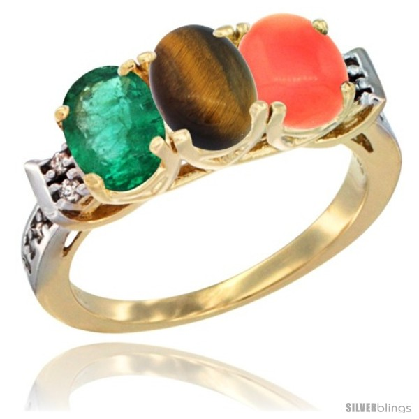 https://www.silverblings.com/72399-thickbox_default/10k-yellow-gold-natural-emerald-tiger-eye-coral-ring-3-stone-oval-7x5-mm-diamond-accent.jpg