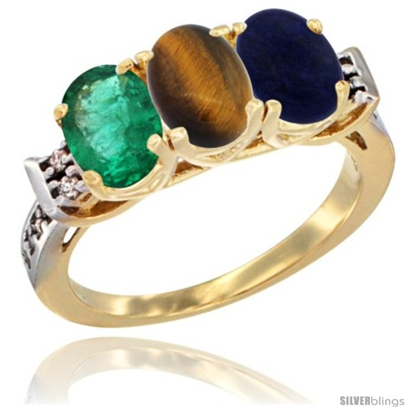 https://www.silverblings.com/72401-thickbox_default/10k-yellow-gold-natural-emerald-tiger-eye-lapis-ring-3-stone-oval-7x5-mm-diamond-accent.jpg