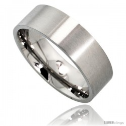 Surgical Steel 8mm Wedding Band Thumb Ring Comfort-Fit Matte Finish