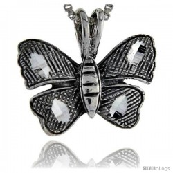 Sterling Silver Butterfly Pendant, 3/4 in tall -Style Pa231