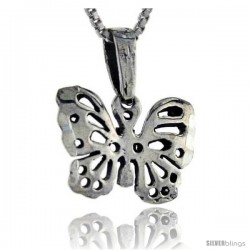 Sterling Silver Butterfly Pendant, 5/8 in tall -Style Pa235