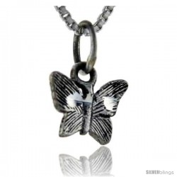 Sterling Silver Teeny Butterfly Pendant, 1/2 in tall
