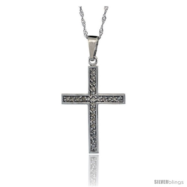 https://www.silverblings.com/72817-thickbox_default/14k-white-gold-18-in-chain-15-16-in-24mm-tall-diamond-latin-cross-pendant-w-0-15-carat-brilliant-cut-diamonds.jpg