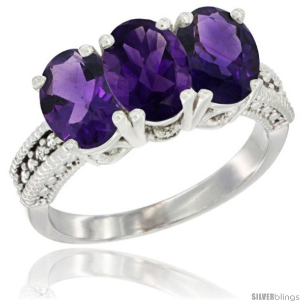 https://www.silverblings.com/73100-thickbox_default/14k-white-gold-natural-amethyst-ring-3-stone-7x5-mm-oval-diamond-accent.jpg