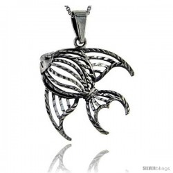 Sterling Silver Angelfish Pendant, 1 1/2 in tall -Style Pa262