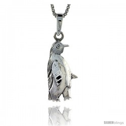Sterling Silver Penguin Pendant, 3/4 in tall -Style Pa290