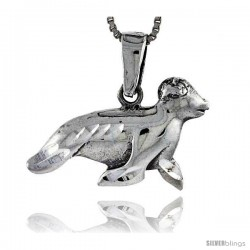 Sterling Silver Baby Seal Pendant, 5/8 in tall