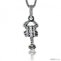 Sterling Silver Scorpion Pendant, 3/4 in tall