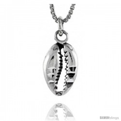 Sterling Silver Shell Pendant, 5/8 in tall