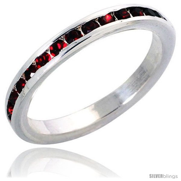 https://www.silverblings.com/7327-thickbox_default/sterling-silver-eternity-band-w-july-birthstone-ruby-crystals-1-8-3-mm-wide.jpg