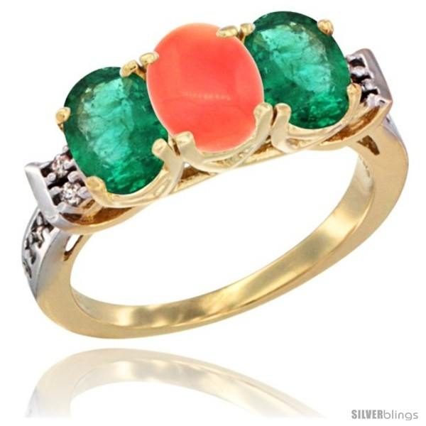 https://www.silverblings.com/73389-thickbox_default/10k-yellow-gold-natural-coral-emerald-sides-ring-3-stone-oval-7x5-mm-diamond-accent.jpg