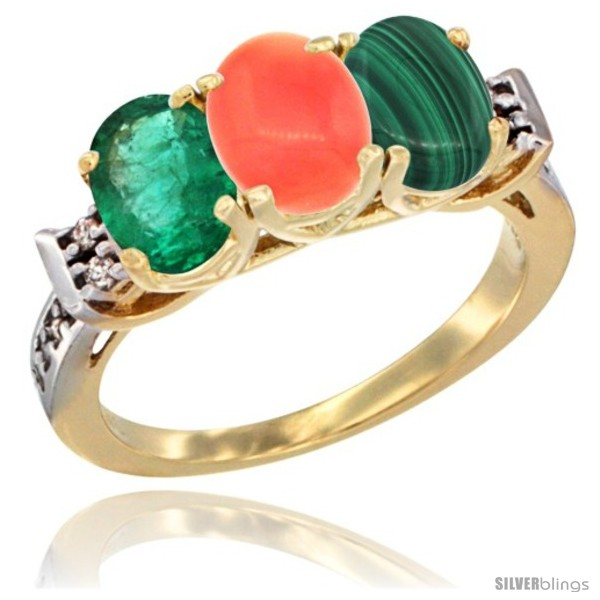 https://www.silverblings.com/73397-thickbox_default/10k-yellow-gold-natural-emerald-coral-malachite-ring-3-stone-oval-7x5-mm-diamond-accent.jpg