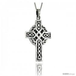 Sterling Silver Celtic Cross Pendant, 1 3/4 in long