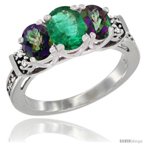 https://www.silverblings.com/73713-thickbox_default/14k-white-gold-natural-emerald-mystic-topaz-ring-3-stone-oval-diamond-accent.jpg