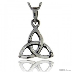 Sterling Silver Triquetra Trinity Symbol Pendant, 1 in tall